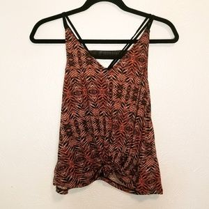 Silence + Noise strappy patterned tank top